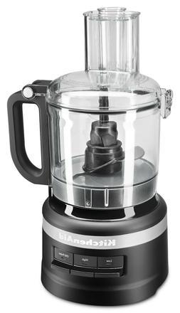 KitchenAid 7 Seven Cup Food Processor Matte Black System Sli