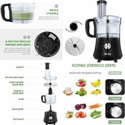 Food Processor 8-Cup Meat/Vegetables Processor Stainless Ste