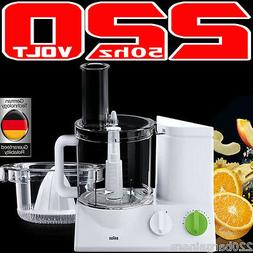 Braun FP3020 220 Volt Food Processor With 5 Attachments  for