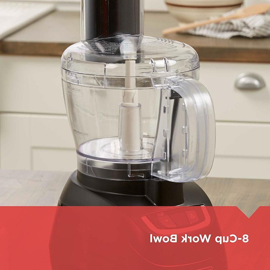 Black 8 Cup Food Processor Kitchen Chopper