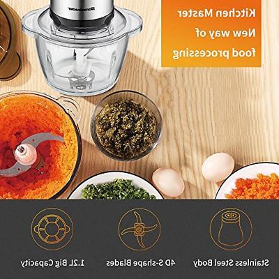 Electric Food Food Processor 1.2L Glass for 4