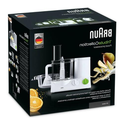 Braun Processor with Slicing Insert Blade French Fry System Bundle