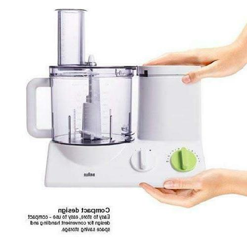 Braun FP3020 12 Cup Food Processor Ultra Quiet Powerful inc Attachments
