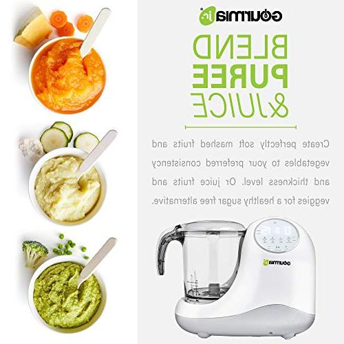 Gourmia Jr. 5-in-1 Steaming,3 Modes, Touch