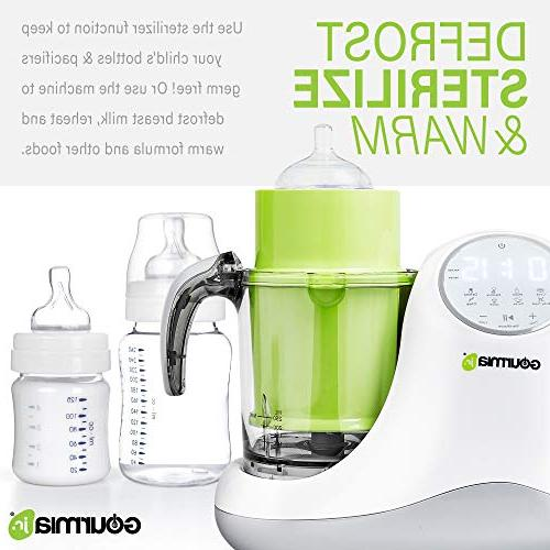 Gourmia 5-in-1 Baby Steaming,3 Modes, Touch Display,