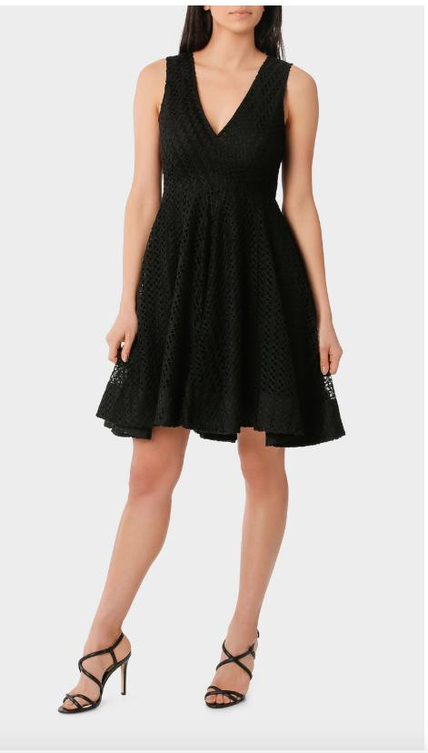 WAYNE Fit Flare High Low Lace Dress 10 Cocktail