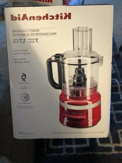 New KitchenAid 7 Cup Food Processor KFP0718ER Empire Red