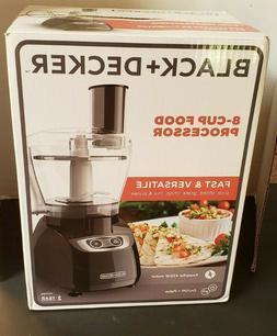 New Black & Decker FP1700B 8-cup Food Processor powerful 450