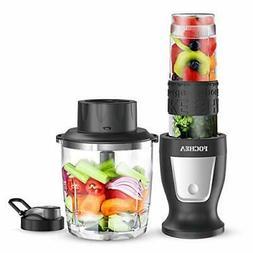 Smoothie Blender, Fochea 300W Professional Food Processor Mu